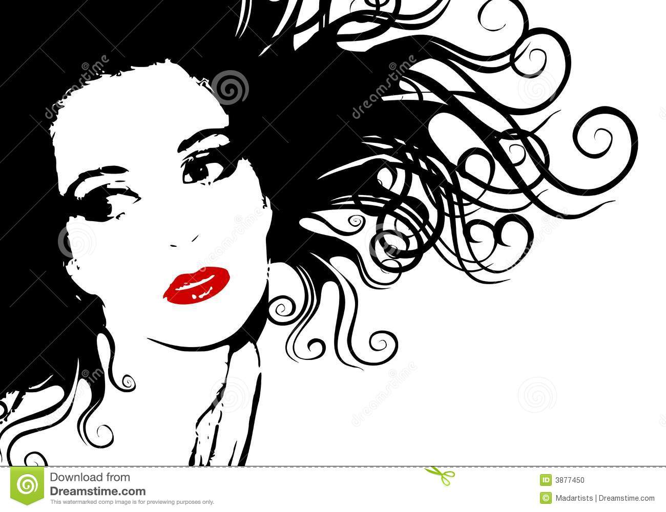 Woman Face Clipart Black And White contrast 20clipart