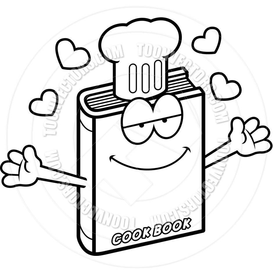 cartoon cookbook hug black clipart panda free clipart