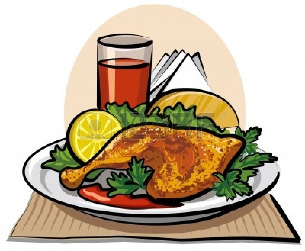 free clipart chicken dinner - photo #1