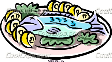 Fish cooked. Clipart panda free images