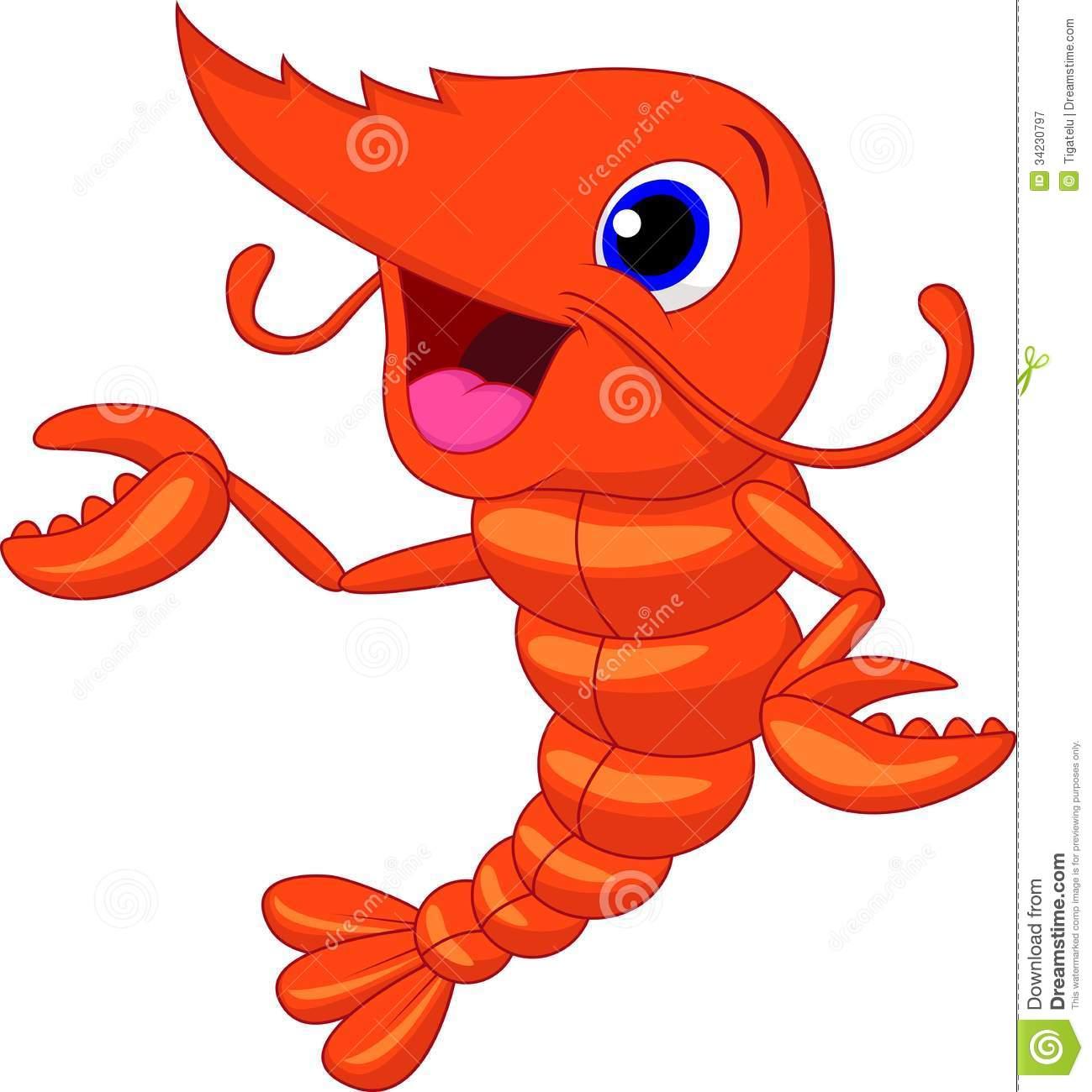 7 cartoon shrimp character