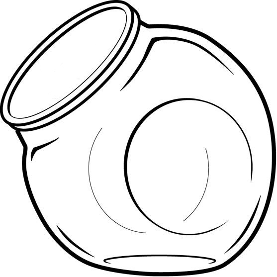 Candy jar clip art print coloring pages ~ Cookie Jar Clipart Black And White   Clipart Panda - Free ...