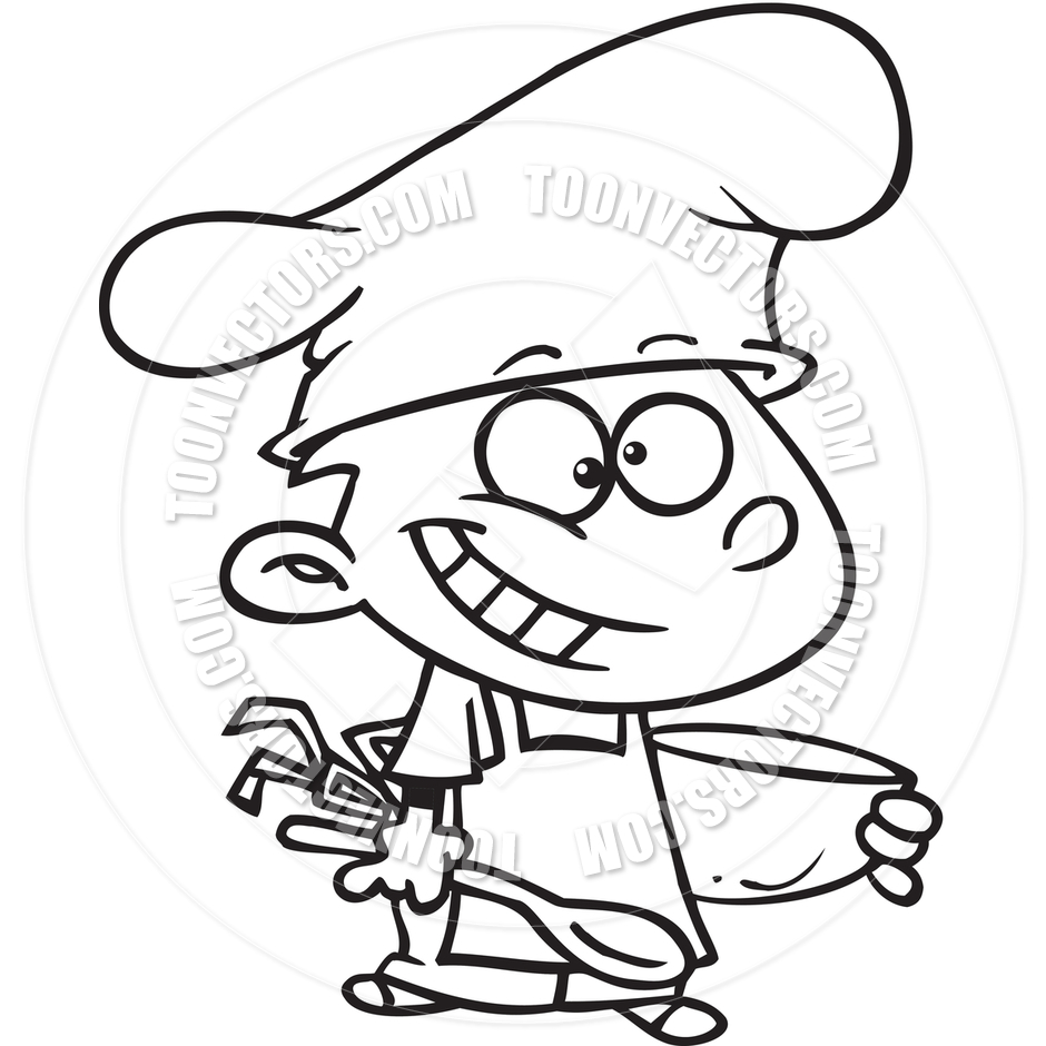 Kids Cooking Clipart