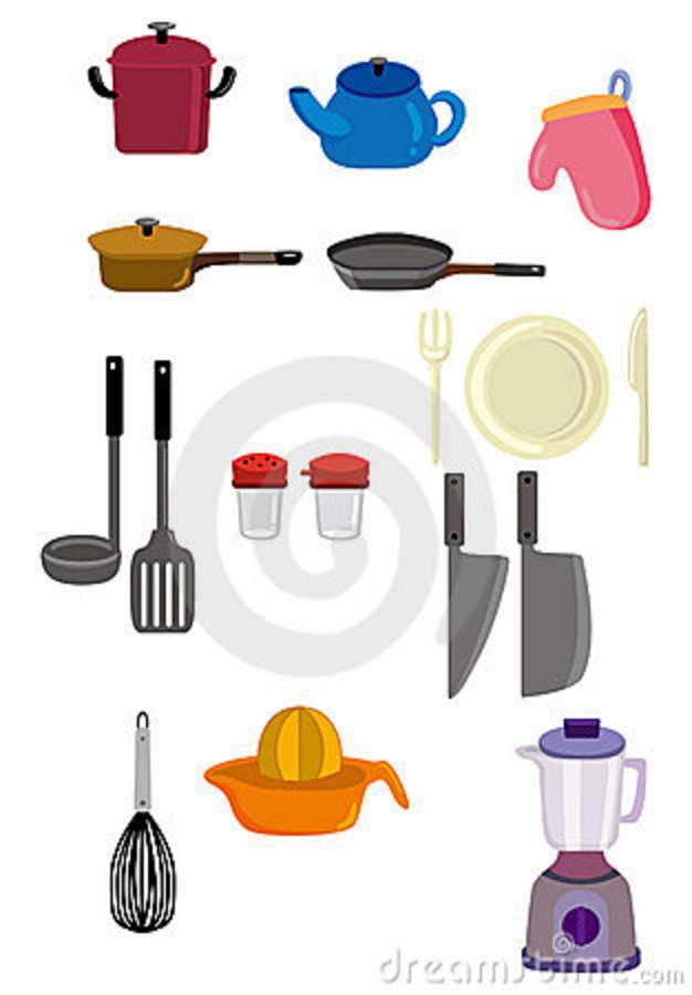 Cartoon Kitchen Tools ~ Cartoon baking utensils