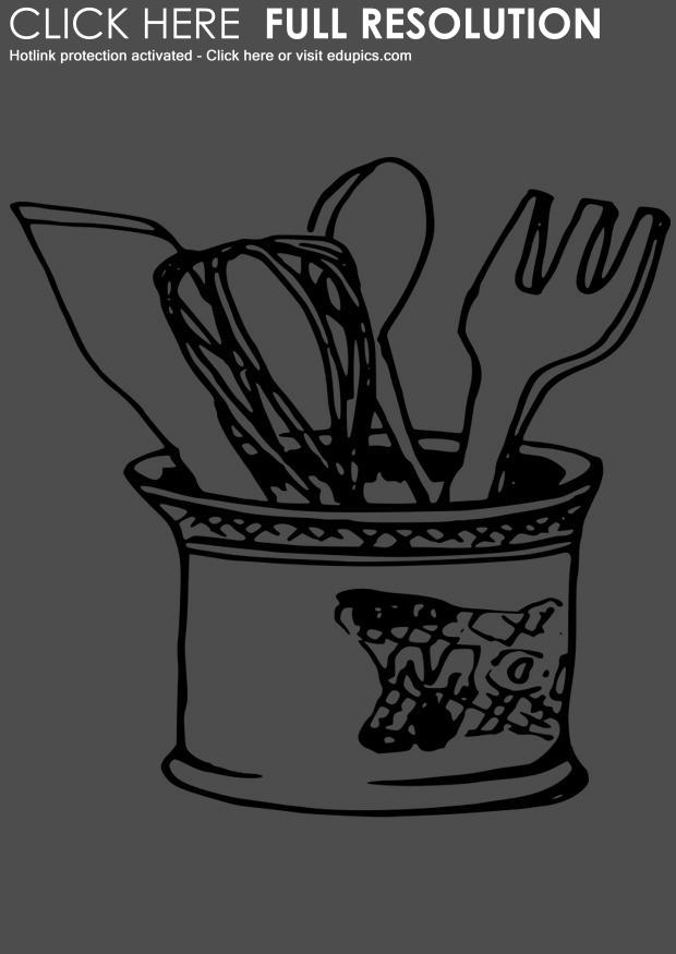 cooking utensils drawing coloring page kitchen utensils dl