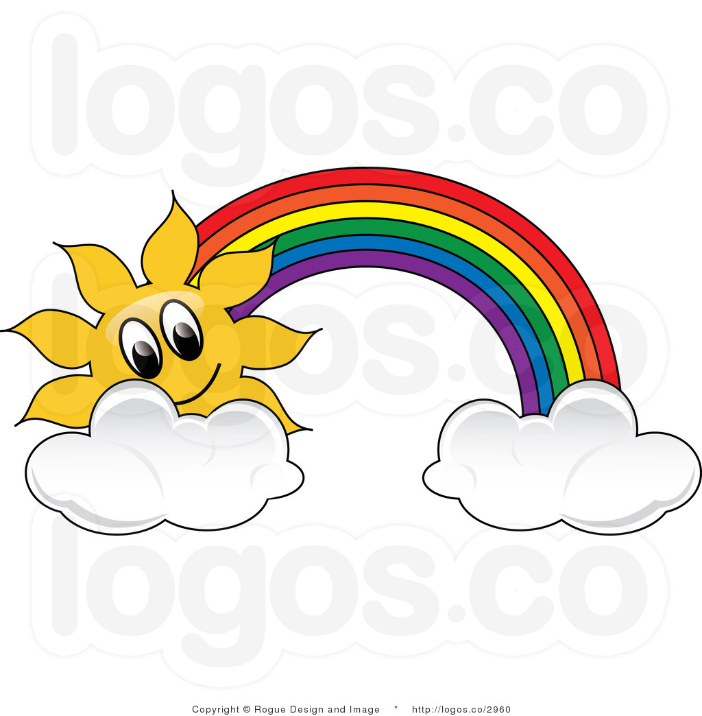 clipart rainbow with clouds - photo #46