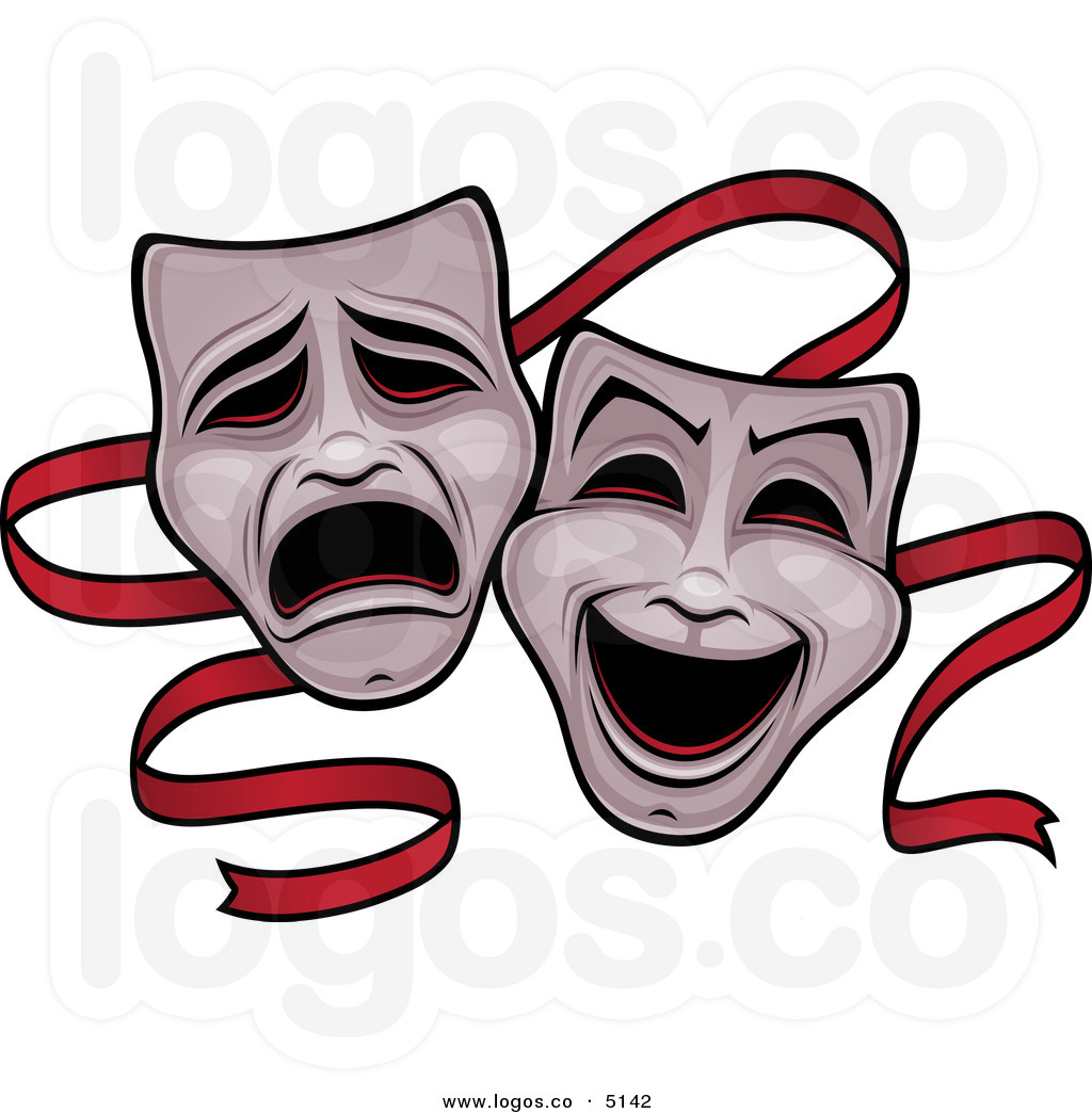 ... 17> Images For - Comedy Tragedy Masks Black And White Clipart