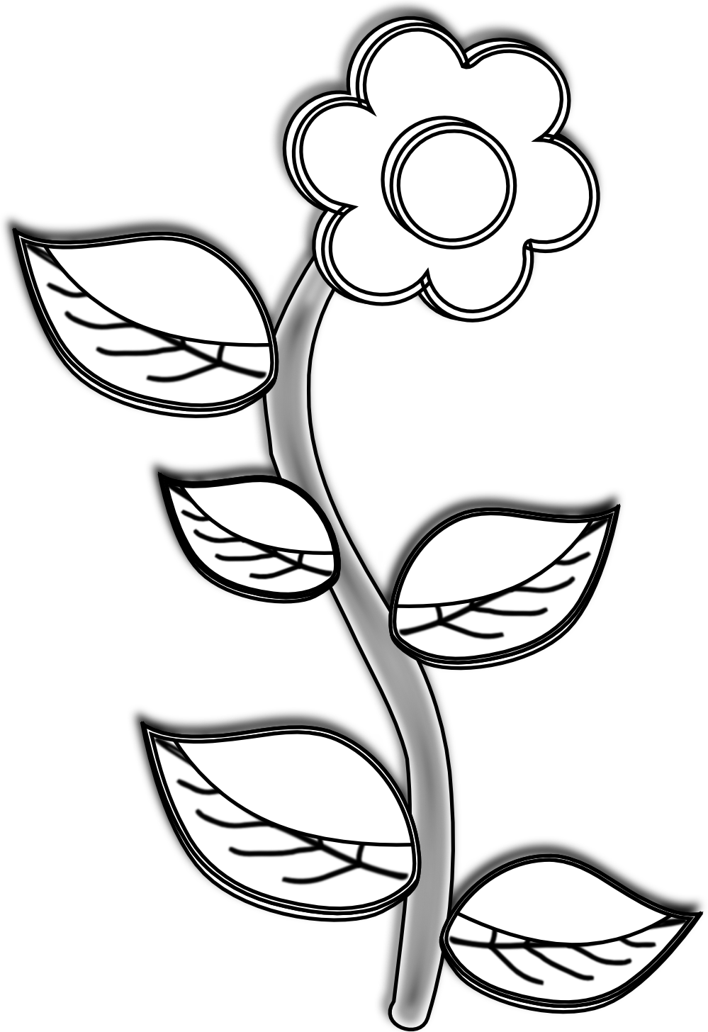 Black And White Line Drawing Flowers : Coral clipart black and white panda free
