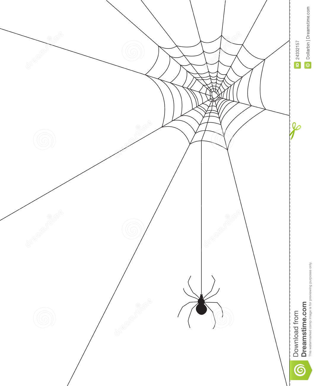 Spider web and spider on | Clipart Panda - Free Clipart Images