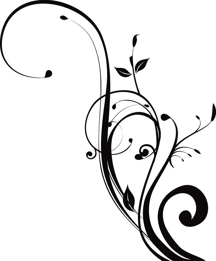 Swirl Art Designs : Corner swirls design clipart panda free images