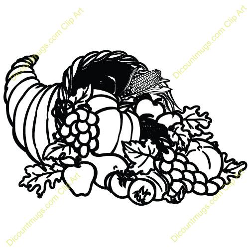 Cornucopia Clip Art Black And White | Clipart Panda - Free ...