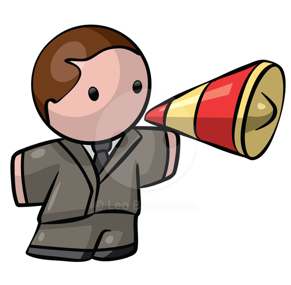 clipart man with megaphone - photo #7