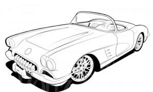 Corvette Clipart on 1969 Chevrolet Corvette Stingray