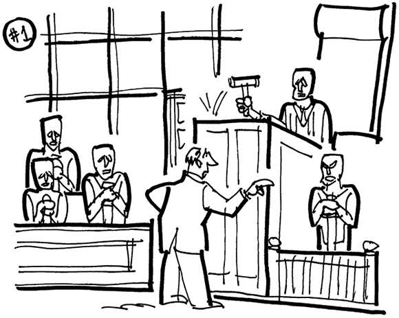 Jury Room Black And White
