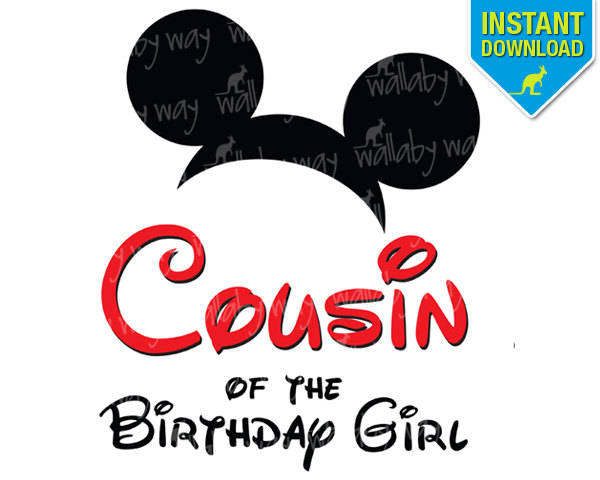 Disney COUSIN of the Birthday | Clipart Panda - Free Clipart Images