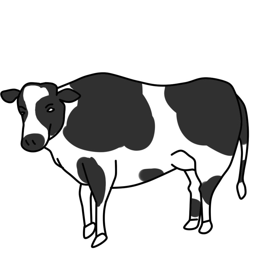 Clip Art Cow Clipart Black And White cow clip art black and white clipart panda free images art