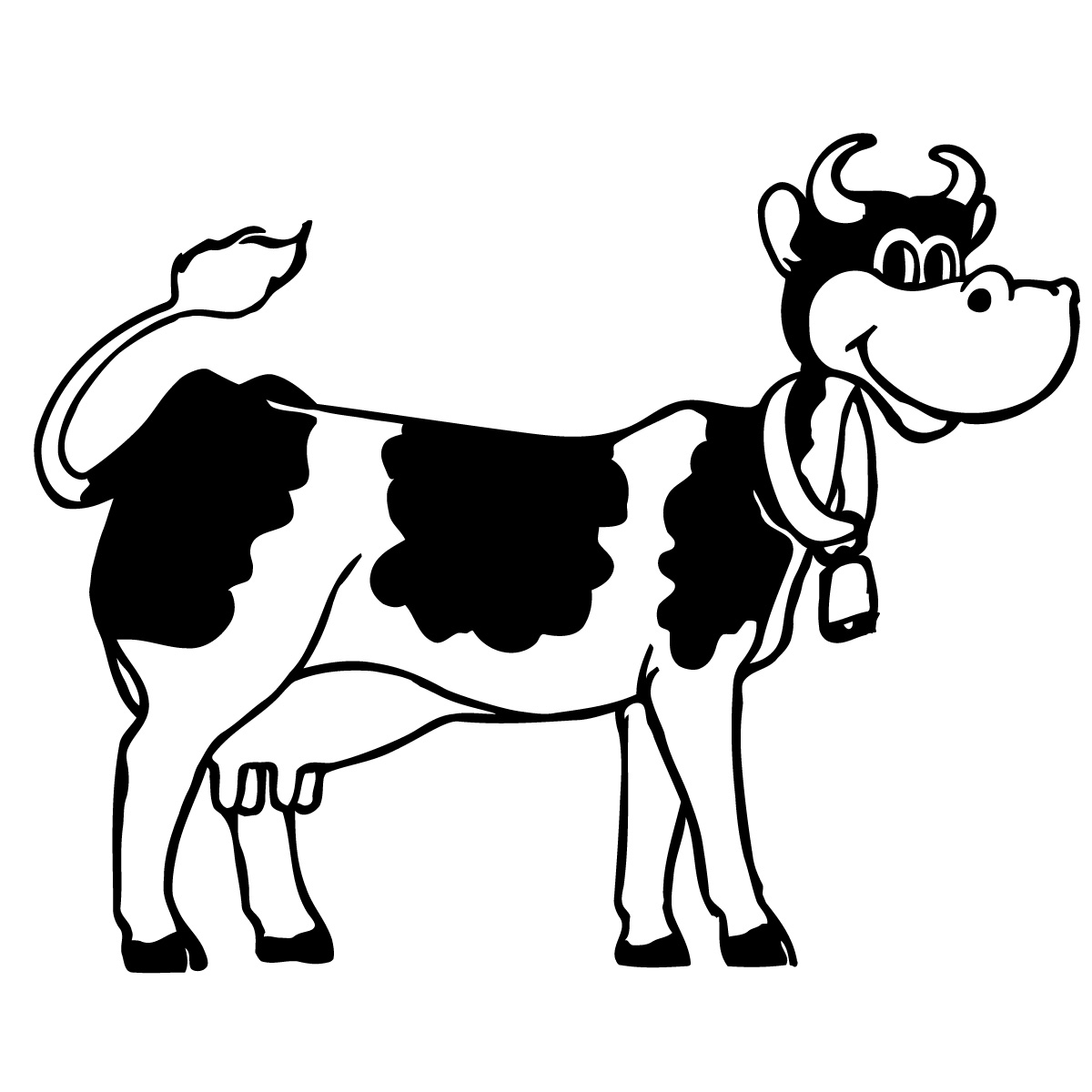Cow Clipart Black And White | Clipart Panda - Free Clipart ...