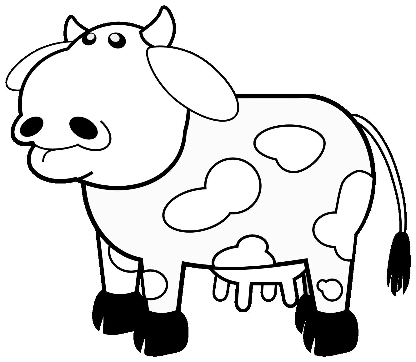 Colour Cows 1 Black White