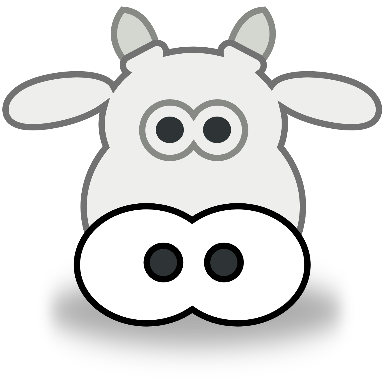 Line Drawing Of Animal Faces : Cow face clipart panda free images