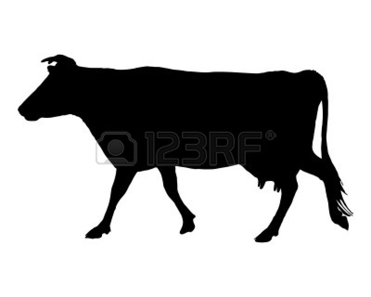 Cow head clipart black and white