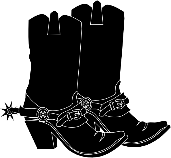 Cowboy Boots Clipart Black And White | Clipart Panda - Free Clipart ...