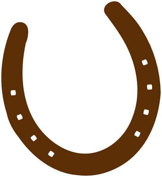 Cowboy brown horseshoe clipart panda free clipart for Horseshoe christmas art