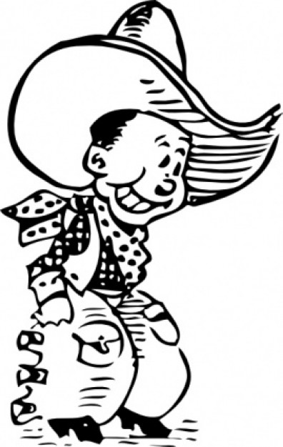 Cowboy Clip Art