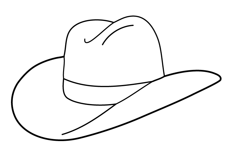 Line Drawing Hat : Cowboy hat clipart black and white panda free