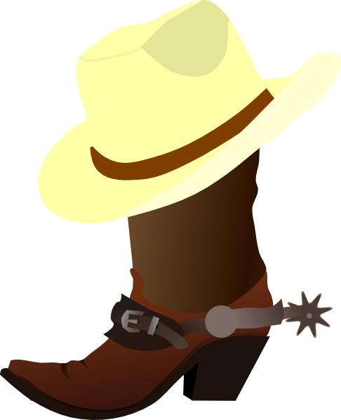 Image result for cowboy boot with cowboy hat clipart
