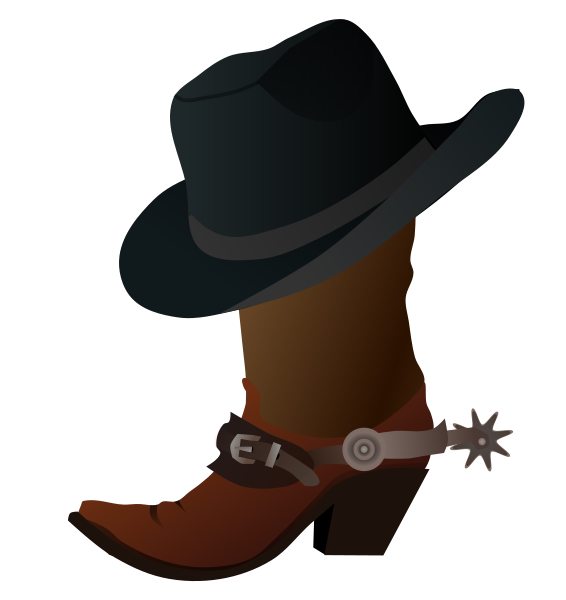 cowboy hat clip art free clipart panda free clipart images Free Wild West Silhouette Free Wild West Silhouette