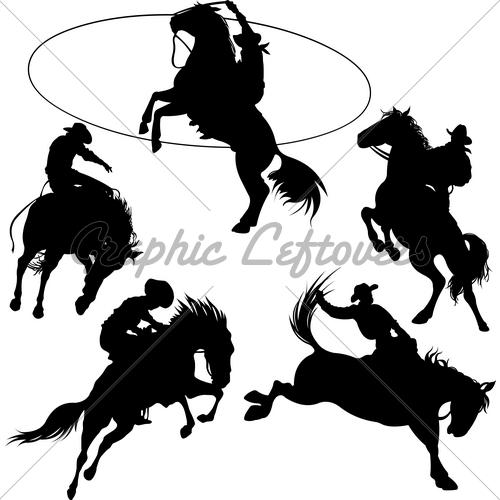 Cowboy roping clipart ...