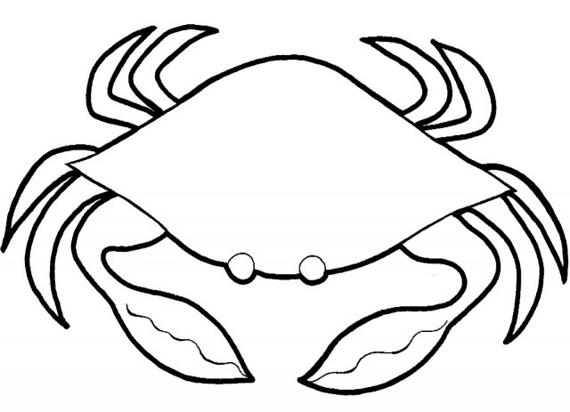 Crab clipart black and white clipart panda free for Black line coloring pages