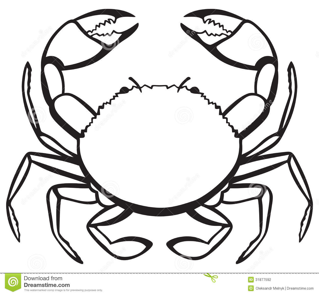 crab%20clipart%20black%20and%20white