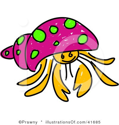Hermit crab clipart - photo#11