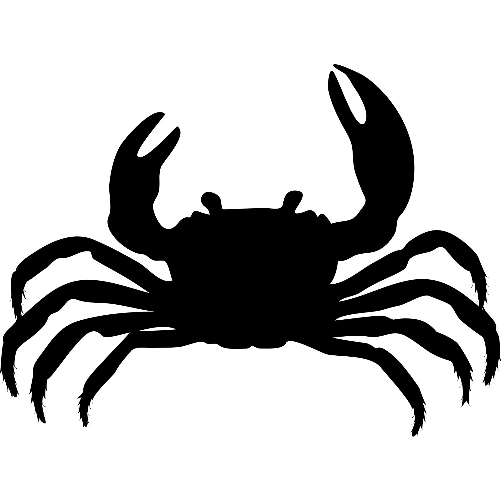 Crab Silhouette on Clip Art Christmas Tree Outline