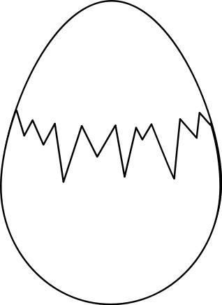 Cracked Egg Clipart Black And White