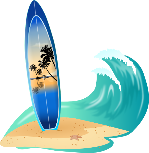 Surfing clipart