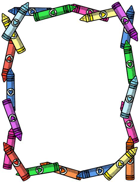 Crayons Border Clipart Cfxq