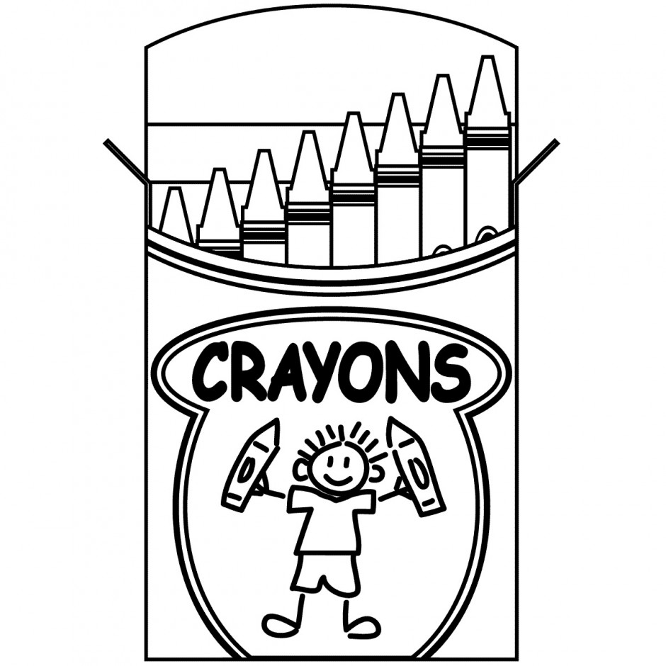 Free Coloring Pages Of Colour Crayon