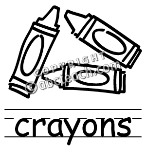 crayons%20clipart%20black%20and%20white