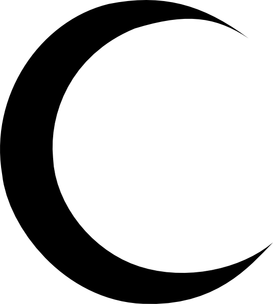 Crescent Moon Clipart Black And White : Clipart Panda - Free Clipart ...
