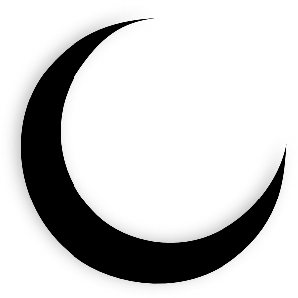 Crescent Moon Clipart Black And White | Clipart Panda ...