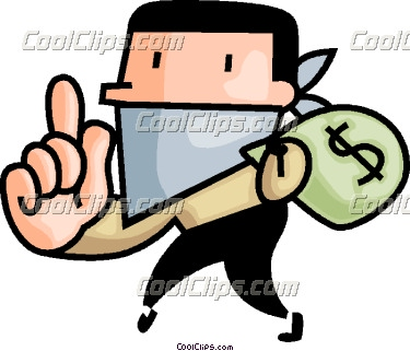 Clipart Bank Robber