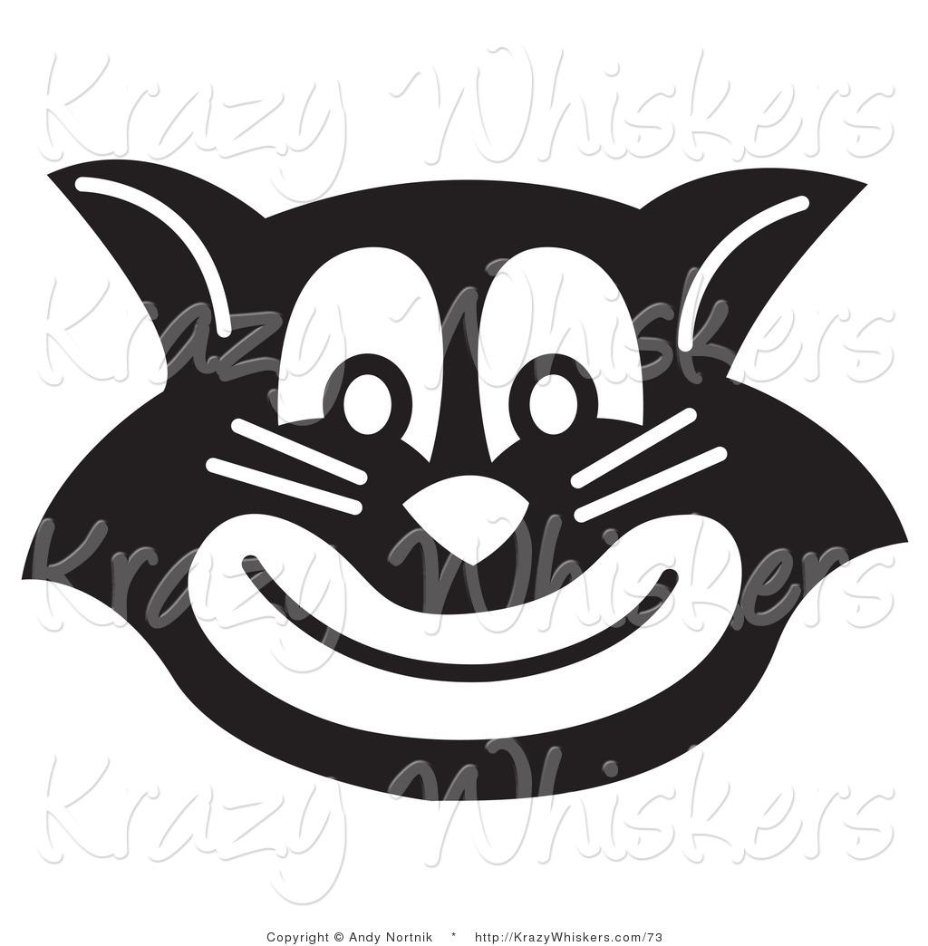 Grinning Black Cat Art