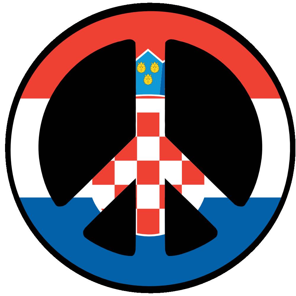 Croatia Peace Symbol Flag | Clipart Panda - Free Clipart Images