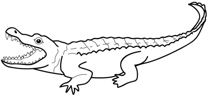 Crocodile Black And White | Clipart Panda - Free Clipart ... - photo#4