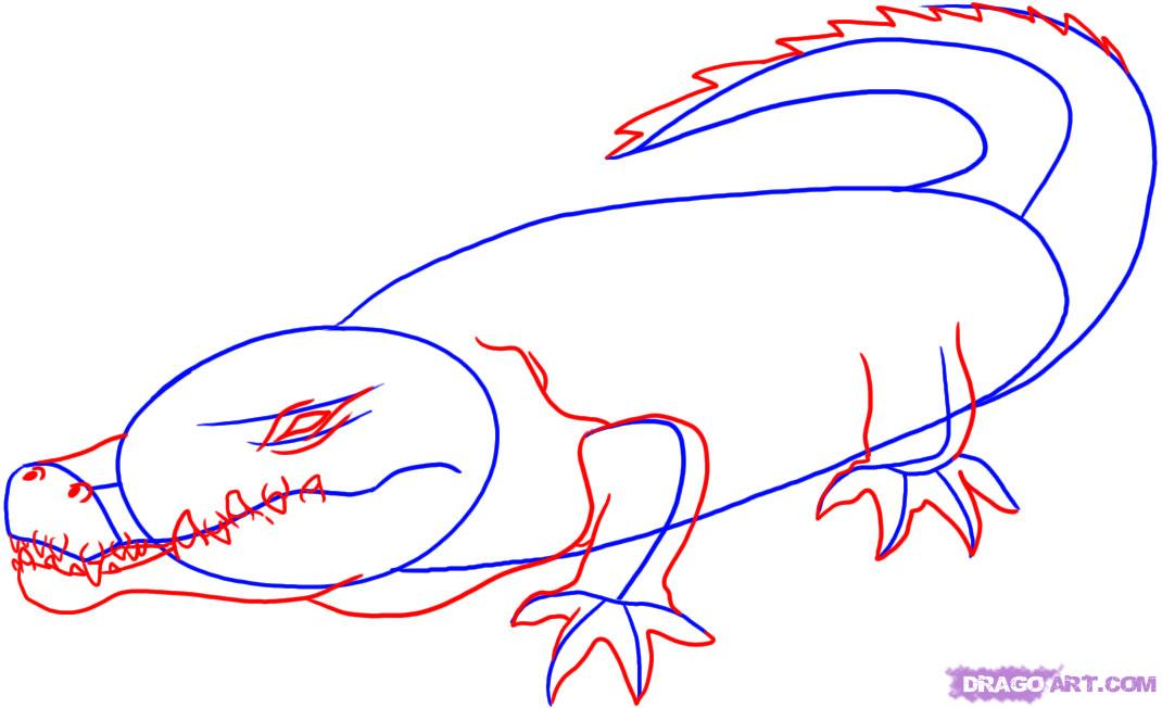 Easy crocodile drawing clipart panda free clipart images for Easy drawing websites