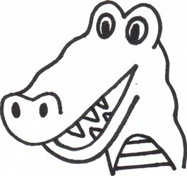 Crocodile head drawing clipart panda free clipart images for Easy to draw crocodile