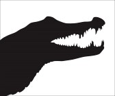 Crocodile Head Silhouette | Clipart Panda - Free Clipart ...