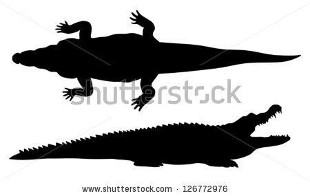 Crocodile Silhouette Clip Art | Clipart Panda - Free Clipart Images